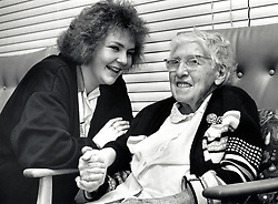 Care Assistant & resident at council run residential home for the elderly, Nottingham 1989
