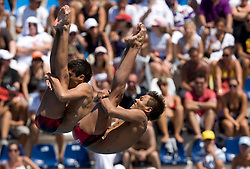 Ivan Garcia and German Sanchez of Mexico at Men's 10m Synchro Platform Final at 13th FINA World Championships Rome 2009, on July 25 2009, at Foro Italico, Rome, Italy. (Photo by Vid Ponikvar / Sportida)
