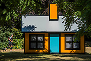 Richard Woods, Holiday Home (Regent's Park), 2018, The Alan Cristea Gallery -  Frieze Sculpture, one of the largest outdoor exhibitions in London, including work by 25 international artists from across five continents in Regent's Park from 4th July - 7th October 2018.