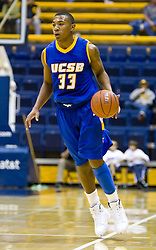 December 28, 2009; Berkeley, CA, USA;  UC Santa Barbara Gauchos guard Orlando Johnson (33) during the second half against the Furman Paladins at the Haas Pavilion.  UC Santa Barbara defeated Furman 72-60.
