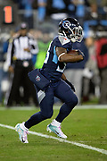 Tennessee Titans running back Dion Lewis (33) runs the ball during the week 14 regular season NFL football game against the Jacksonville Jaguars on Thursday, Dec. 6, 2018 in Nashville, Tenn. The Titans won the game 30-9. (©Paul Anthony Spinelli)