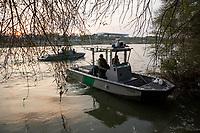 Border patrol agents patrol by boat the Rio Grande in Roma, TX, on the U.S.-Mexico border, on February 2, 2017 (Photo/Scott Dalton)
