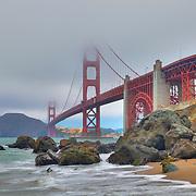 Golden Gate Bridge - Marshall's Beach - HDR