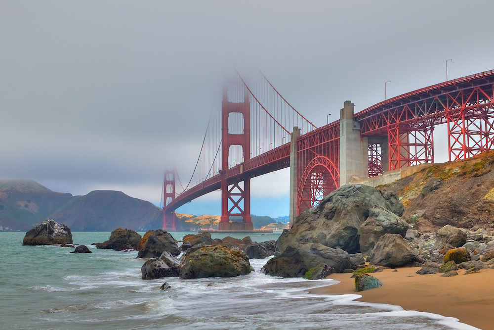 Golden Gate Bridge - Marshall's Beach - HDR