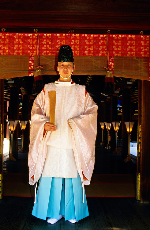 Kariginu (costume), Shinto ceremony, Shimogamo Shrine, Kyoto, Japan