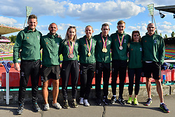 Paralympics Ireland Medalists with coaches.  From left:  Orla Comerford, T13, IRE, Greta Streimikyte, Jason Smyth, Lee Jordan, T47 at the Berlin 2018 World Para Athletics European Championships