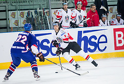 Thomas Raffl of Austria during ice-hockey match between Austria and Great Britain at IIHF World Championship DIV. I Group A Slovenia 2012, on April 16, 2012 in Arena Stozice, Ljubljana, Slovenia. Austria defeated Great Britain 6-3. (Photo by Vid Ponikvar / Sportida.com)