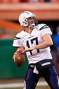 KANSAS CITY, MO - DECEMBER 14:   Philip Rivers #17 of the San Diego Chargers warming up by throwing passes before a game against the Kansas City Chiefs on December 14, 2008 in Kansas City, Missouri.  The Chargers defeated the Chiefs 22-21.  (Photo by Wesley Hitt/Getty Images) *** Local Caption *** Philip Rivers