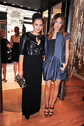 Left to right, CAMILLA AL FAYED and DASHA ZHUKOVA  at a party to celebrate the B.zero 1 design by Anish Kapoor held at Bulgari, 168 New Bond Street, London n 2nd June 2010.