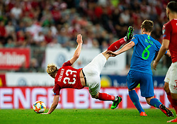 Xaver Schlager of Austria vs Jaka Bijol of Slovenia during the 2020 UEFA European Championships group G qualifying match between Austria and Slovenia at Wörthersee Stadion on June 7, 2019 in Klagenfurt, Austria. Photo by Vid Ponikvar / Sportida