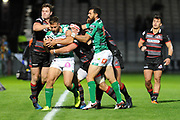 Edinburgh muscle Benetton into touch during the Guinness Pro 14 2017_18 match between Edinburgh Rugby and Benetton Treviso at Myreside Stadium, Edinburgh, Scotland on 15 September 2017. Photo by Kevin Murray.