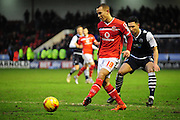 Kieron Morris of Walsall FC during the Sky Bet League 1 match between Walsall and Millwall at the Banks's Stadium, Walsall, England on 6 February 2016. Photo by Mike Sheridan.