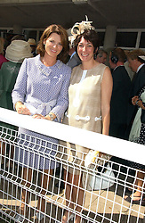 Left to right, MRS HARRY HERBERT and GHISLAINE MAXWELL at the 3rd day of the Glorious Goodrwood Racing festival 2006 - Ladies Day, at Goodwood Race course, West Sussex on 3rd August 2006.<br />