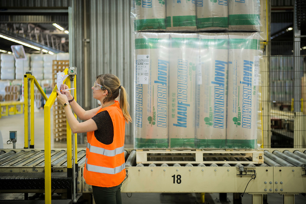 Vise, Belgium 16 August 2013<br /> Knauf Insulation factory.<br /> Knauf Insulation is an international company owned by the Knauf family and is an important manufacturer of insulation products in the US and Europe.<br /> Knauf is one of the leading insulation company, producing  four types of insulation: glass and rock mineral wool, extruded polystyrene, and extruded polyethylene. <br /> Photo: Ezequiel Scagnetti