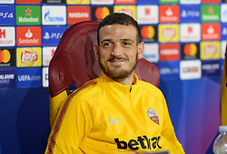 October 1, 2018 - Rome, Italy - Alessandro Florenzi met journalists at Trigoria in Rome before their match of the Champions League against Viktoria Plzen, Rome, 01 october 2018. (Credit Image: © Silvia Lore/NurPhoto/ZUMA Press)