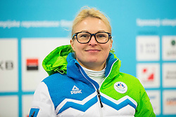 Nina Jovan during presentation of Slovenian Young Athletes before departure to EYOF (European Youth Olympic Festival) in Vorarlberg and Liechtenstein, on January 21, 2015 in Bled, Slovenia. Photo by Vid Ponikvar / Sportida