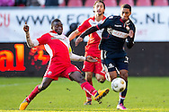 Onderwerp/Subject: FC Utrecht - Willem II - Eredivisie<br /> Reklame:  <br /> Club/Team/Country: <br /> Seizoen/Season: 2012/2013<br /> FOTO/PHOTO: Genaro SNIJDERS (R) of Willem II in duel with Nana ASARE ( Akwasi Nana ASARE ) (L) of FC Utrecht and Mark VAN DER MAAREL (C) of FC Utrecht. (Photo by PICS UNITED)<br /> <br /> Trefwoorden/Keywords: <br /> #04 $94 ±1354626289759<br /> Photo- & Copyrights © PICS UNITED <br /> P.O. Box 7164 - 5605 BE  EINDHOVEN (THE NETHERLANDS) <br /> Phone +31 (0)40 296 28 00 <br /> Fax +31 (0) 40 248 47 43 <br /> http://www.pics-united.com <br /> e-mail : sales@pics-united.com (If you would like to raise any issues regarding any aspects of products / service of PICS UNITED) or <br /> e-mail : sales@pics-united.com   <br /> <br /> ATTENTIE: <br /> Publicatie ook bij aanbieding door derden is slechts toegestaan na verkregen toestemming van Pics United. <br /> VOLLEDIGE NAAMSVERMELDING IS VERPLICHT! (© PICS UNITED/Naam Fotograaf, zie veld 4 van de bestandsinfo 'credits') <br /> ATTENTION:  <br /> © Pics United. Reproduction/publication of this photo by any parties is only permitted after authorisation is sought and obtained from  PICS UNITED- THE NETHERLANDS