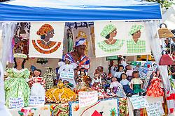 "Esther Frett wins for Best Dressed.  ""Alvin's Cultural Workshop"" Cultural Fair honoring Mr. Alvin Turnbull.  Emancipation Garden.  St. Thomas, VI.  29 April 2015.  © Aisha-Zakiya Boyd"