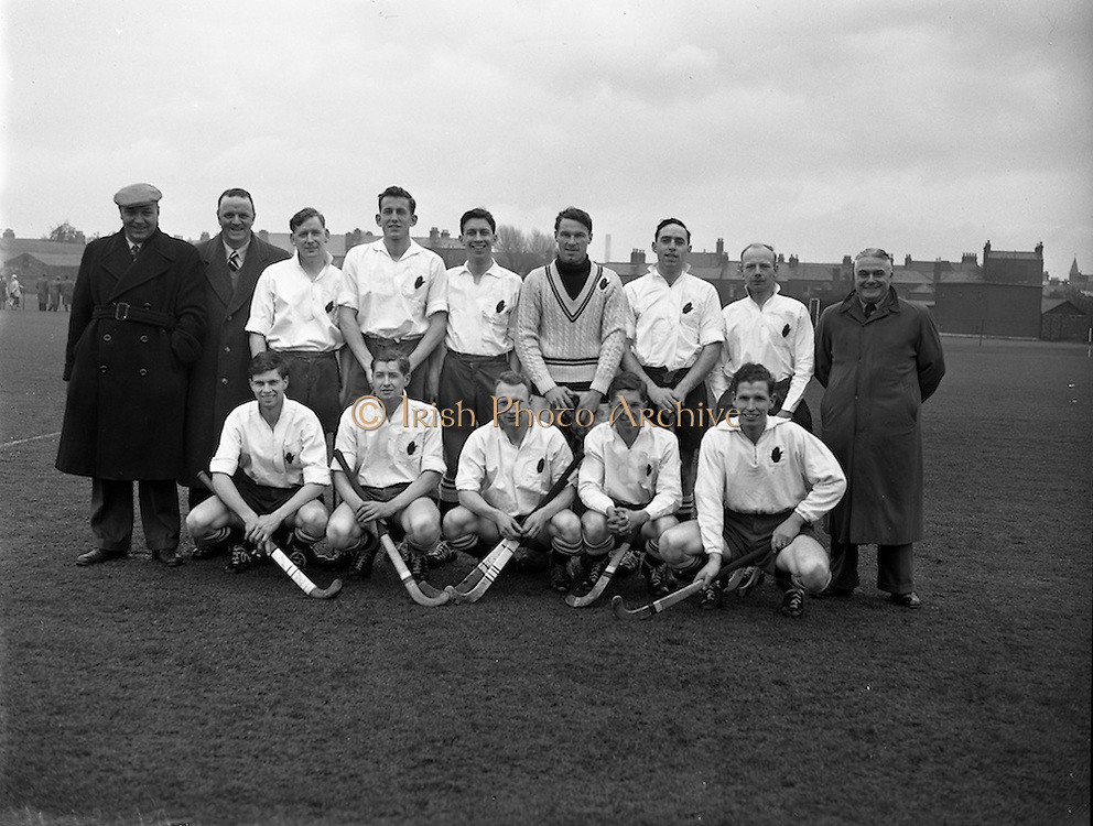 15/02/1958<br /> 02/15/1958<br /> 15 February 1958<br /> Hockey: Interprovincial, Munster v Ulster at Londonbridge Road, Ringsend, Dublin. The Ulster team.