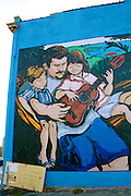 Hispanic Family in Wall Art, Reading, Berks Co., PA