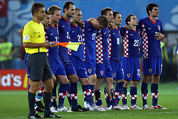 Croatian team during penalty shots during the UEFA EURO 2008 Quarter-Final soccer match between Croatia and Turkey at Ernst-Happel Stadium, on June 20,2008, in Wien, Austria. Turkey won after penalty shots. (Photo by Vid Ponikvar / Sportal Images)