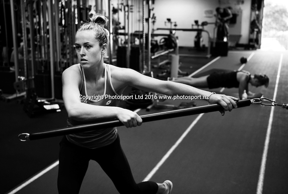 Black Sticks defender Sam Charlton.<br /> HPSNZ Training Centre. Millennium Institute, Auckland, new Zealand. Wednesday 23 March 2016. Copyright photo: Andrew Cornaga / www.photosport.nz