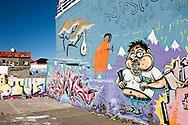 Graffiti on building wall, Reykjavik, Iceland