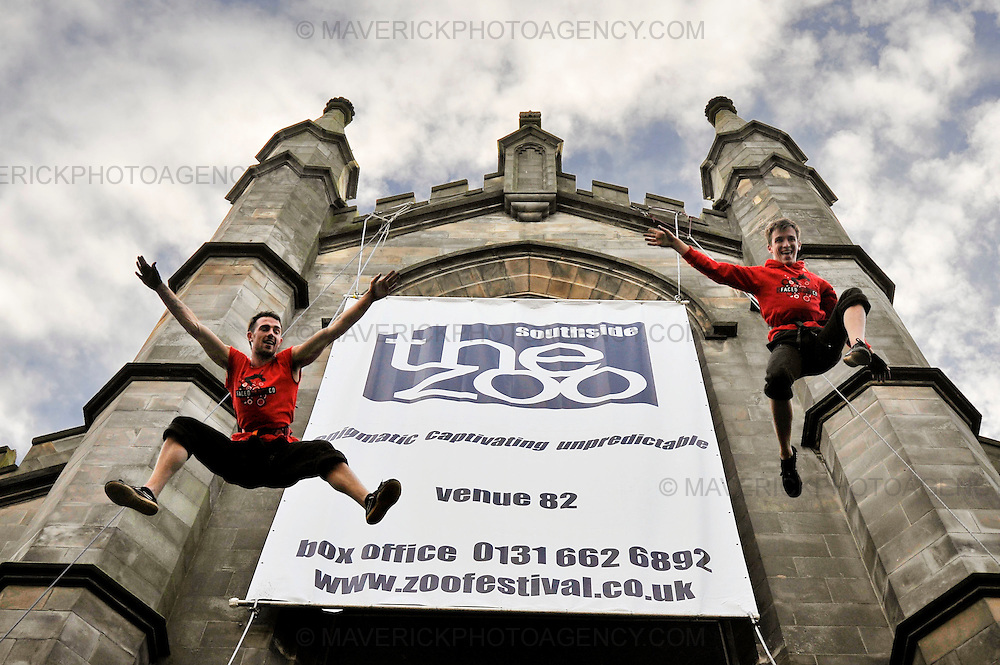 Dance group 2FaCeDDaNcE kick off the Zoo Venues Edinburgh Fringe program by showcasing  some arial acrobatics while suspended high in the air. The group will be performing their  show Still Breathing at the Zoo Southside - the home of contemporary dance during august.