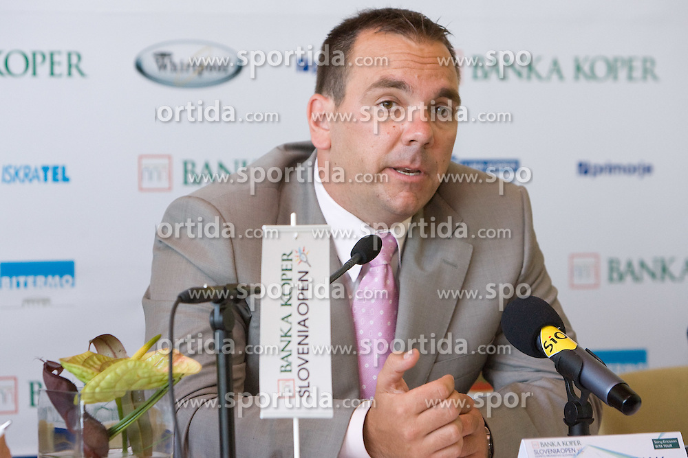 Director Andrej Bizjak at press conference before Banka Koper Slovenia Open 2009 of Sony Ericsson WTA tour in Portoroz,  on July 16, 2009, in Ljubljana, Slovenia. (Photo by Vid Ponikvar / Sportida)