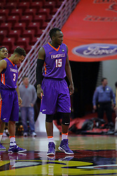 29 December 2016:  Dalen Traore during an NCAA  MVC (Missouri Valley conference) mens basketball game between the Evansville Purple Aces the Illinois State Redbirds in  Redbird Arena, Normal IL
