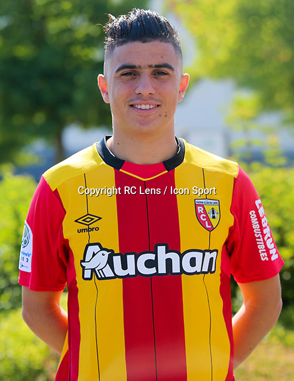 Karim Hafez during photoshooting of RC Lens for new season 2017/2018 on October 5, 2017 in Lens, France<br /> Photo by RC Lens / Icon Sport