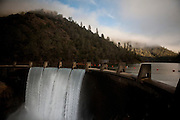 Lake Clementine pours over North Fork Dam on it's way to Folsom Lake, near Auburn, Calif., January 7, 2011. California has already received 80% of its normal annual precipitation in the first two months of a rainy season that lasts another four months..CREDIT: Max Whittaker for The Wall Street Journal.CALWATER