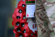 EFL poppy wreath during the EFL Sky Bet Championship match between Burton Albion and Barnsley at the Pirelli Stadium, Burton upon Trent, England on 5 November 2016. Photo by Richard Holmes.