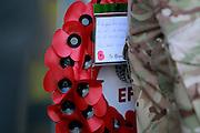EFL poppy wreath during the EFL Sky Bet Championship match between Burton Albion and Barnsley at the Pirelli Stadium, Burton upon Trent, England on 5 November 2016. Photo by Richard Holmes.