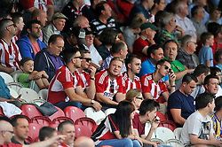 A general view of Brentford supporters during the match - Photo mandatory by-line: Patrick Khachfe/JMP - Mobile: 07966 386802 09/08/2014 - SPORT - FOOTBALL - Brentford - Griffin Park - Brentford v Charlton Athletic - Sky Bet Championship - First game of the season