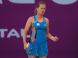 February 13, 2019 - Doha, QATAR - Barbora Strycova of the Czech Republic in action during her second-round match at the 2019 Qatar Total Open WTA Premier tennis tournament (Credit Image: © AFP7 via ZUMA Wire)