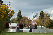 The Royal Air Force Memorial at the National Memorial Arboretum, Croxall Road, Alrewas, Burton-On-Trent,  Staffordshire, on 29 October 2018. Picture by Mick Haynes.