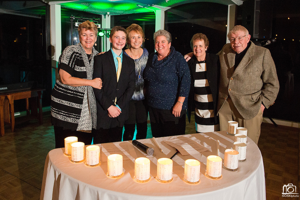 Zac Gersh celebrates his Bar Mitzvah with family and friends Congregation Rodef Sholom in San Rafael, California, on January 16, 2016. (Stan Olszewski/SOSKIphoto)