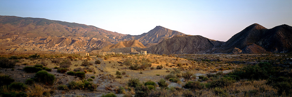 SPAIN, ANDALUSIA Desert Arroyos at Tabernas, north of Almeria, area used for filming Western movies