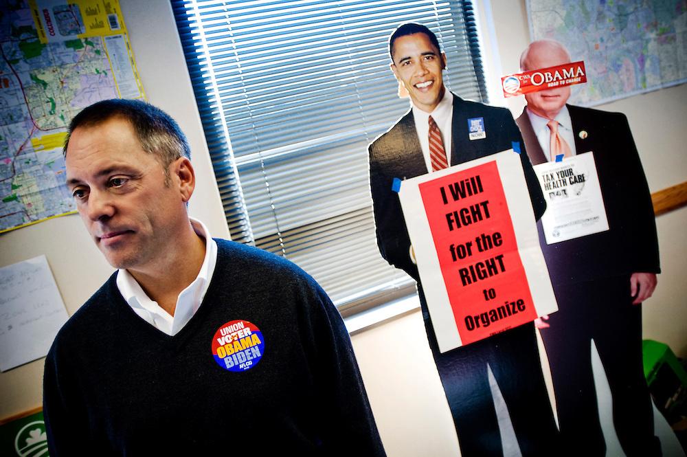 Ohio Swingstate..Tim Burga Union spokesperson .Fackf??reningstalesman..Photographer: Chris Maluszynski /MOMENT