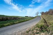 rural agricultural landscape in the Razes region of the Languedoc France during spring season
