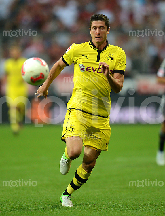 FUSSBALL   1. BUNDESLIGA   SAISON 2012/2013   SUPERCUP FC Bayern Muenchen - Borussia Dortmund            12.08.2012 Robert Lewandowski (Borussia Dortmund)
