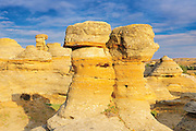 Hoodoos in badlands (UNESCO WOrld Heritage Site)<br /> Writing-On-Stone Provincial Park<br /> Alberta<br /> Canada