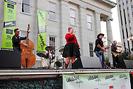 Cherry Lee and the Hot Rod Hounds perform during the fall Urban Nights in downtown Dayton, Friday, September 14, 2012.