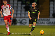 Forest Green Rovers Joseph Mills(23) runs forward during the EFL Sky Bet League 2 match between Stevenage and Forest Green Rovers at the Lamex Stadium, Stevenage, England on 26 January 2019.
