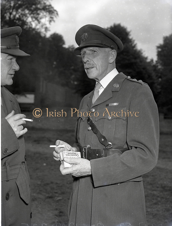 Army Equestrian School McKee Bks. Cpt Keven Barry on Ballyneaty and on Untrained horse Col FA Ahern