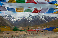 Prayer Flags of Tibetan Buddhists, Himalayan Mountains, India