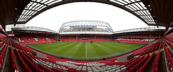 LIVERPOOL, ENGLAND - Sunday, January 17, 2016: A general view of Liverpool's Anfield Stadium before the Premier League match against Manchester United at Anfield. (Pic by David Rawcliffe/Propaganda)