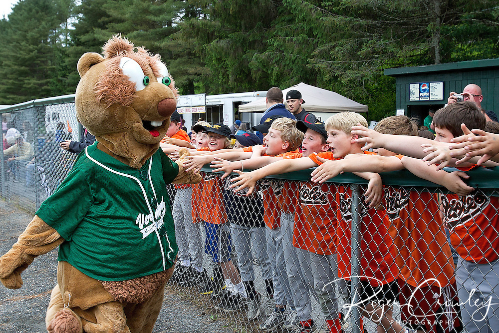 NECBL Vermont Mountaineers host North Adams Steeplecats June 14 at Recreation Field in Montpelier Vermont. Mountaineers won 5-2.