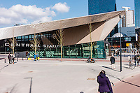 Rotterdam central station has been redeveloped to represent the transportation hub's important role in the city and as part of the european train network. A collaboration of  benthem crouwel architects, MVSA architects and west 8 architects.